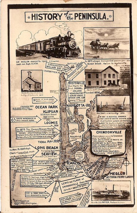 Vintage History of Peninsula Poster
